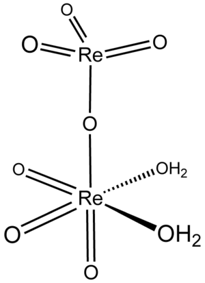 Perrhenic acid - Image: Chemical Structure Of Perrhenic Acid