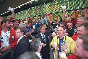 Chicago Mercantile Exchange - President George W. Bush at the CME (March 6, 2001).