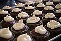 Chocolate cupcakes with cream icing and red sprinkles.jpg