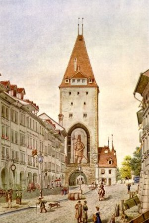 Christoffelturm - A picture depicting the tower about 5 years before removal