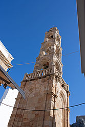 Church of Panagia tower in Lindos, Rhodes 2010 2.jpg