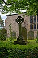 Church of St Andrew's, Boreham, Essex - churchyard cross at the east.jpg