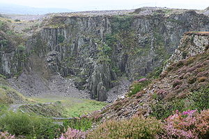 Cilgwyn quarry - The main pit at Cilgwyn in 2006