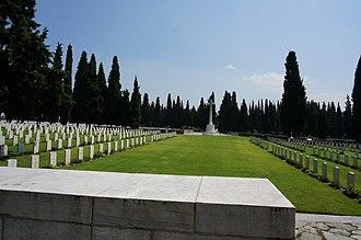 Zeitenlik - British graves and cross