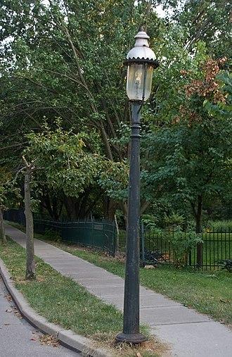 Cincinnati Street Gas Lamps - A street lamp in Clifton