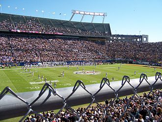 Camping World Stadium - A view of the field during the inaugural C-USA Championship Game in 2005.