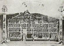 Raffigurazione dell'antica cittadella chiavarese.