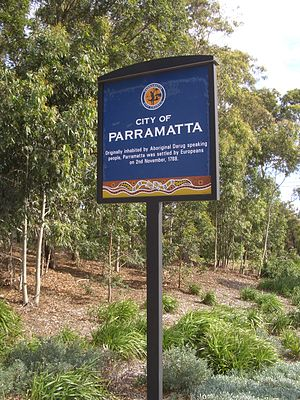 City of Parramatta Council - City of Parramatta Sign, Pennant Hills Road, Carlingford