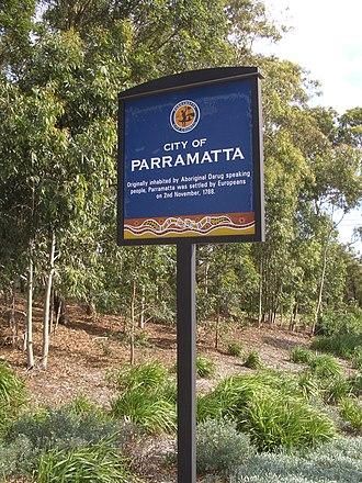 City of Parramatta Council - City of Parramatta Sign, Pennant Hills Road, Carlingford