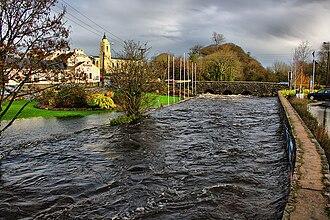 Clarinbridge - Image: Clarin River bursts its banks
