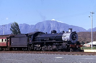 South African Class 15B 4-8-2 - Class 15BR no. 1982 at Bonnievale, February 1974