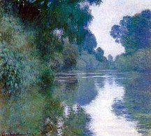 Normandija-Slikarstvo-Claude Monet - Branch of the Seine near Giverny