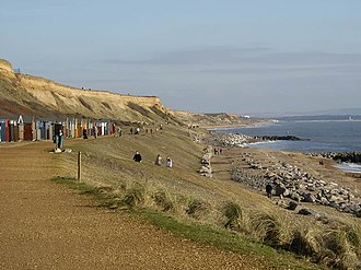 New Milton - Cliffs and beach at Barton on Sea