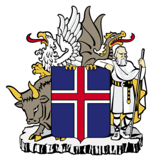 Coat of arms of Iceland.