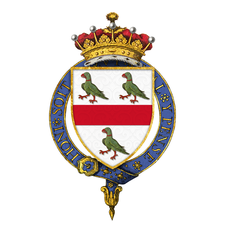 Coat of Arms of Roger Lumley, 11th Earl of Scarbrough, KG, GCSI, GCIE, GCVO, TD, GCC, PC, DL.png