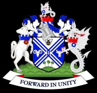 Metropolitan Borough of Bury - Image: Coat of arms of Bury Metropolitan Borough Council