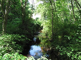 Cochato River - Cochato River at Lancaster Road in Randolph