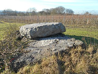 Coffin Stone Archaeological artifact in Kent, England