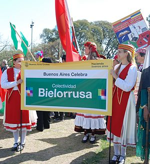 Belarusian Argentines - Belarusians of Argentina on the Immigrant Day, Buenos Aires, 2010