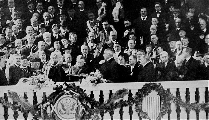 Collier's 1921 United States of America - Harding Taking the Oath of Office.jpg