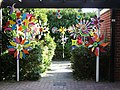 Colourful windmills decorate a garden near to Abingdon town centre - geograph.org.uk - 1507923.jpg