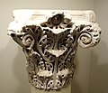 Column capital with acanthus leaf decoration, Spain, probably Cordoba,Umayyad Caliphate, 10th century AD, marble - Cincinnati Art Museum - DSC04137.JPG