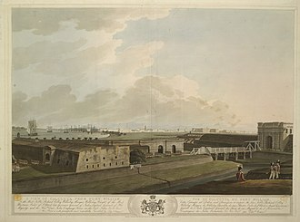 Fort William, India - A view of Calcutta from Fort William (1807).