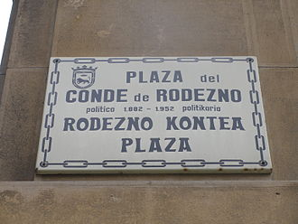 former placard (now removed) Conde de Rodezno.JPG