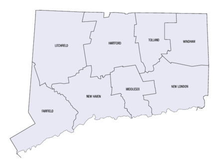 Carte du Connecticut