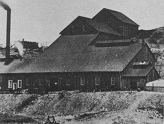 Contention City, Arizona - The Contention Mill, circa 1880.