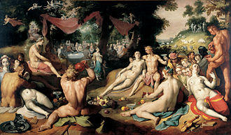 1593 in art - Image: Cornelis Cornelisz. van Haarlem The Wedding of Peleus and Thetis WGA05242