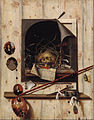 Cornelius Norbertus Gijsbrechts - Trompe l'oeil with Studio Wall and Vanitas Still Life - Google Art Project.jpg