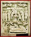 Costantinopoli, formella con deposizione e compianto, avorio, 1110 ca.jpg