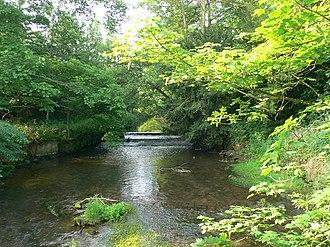 Cound Brook - Cound Brook viewed from Longnor Bridge