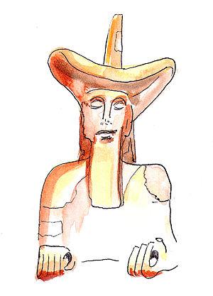 Murlo cowboy - Artist's impression of the Murlo cowboy.