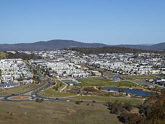 Crace, Australian Capital Territory - View looking East from Percival Hill over Crace