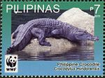 Crocodylus mindorensis 2011 stamp of the Philippines 3.jpg