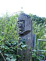 Crudely carved gatepost - geograph.org.uk - 229707.jpg