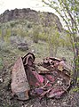 Crushed Jeep at base of Saddlerock Wenatchee Washington.jpg