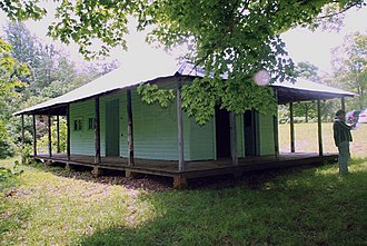 National Register of Historic Places listings in Edmonson County, Kentucky - Image: Crystal Cave Ticket Office NPS