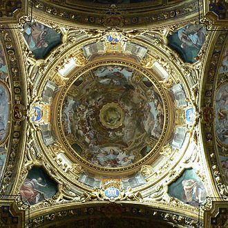 Giovanni Andrea Ansaldo - The dome of the Annunziata, Genoa.