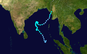 2003 Sri Lanka cyclone - Image: Cyclone 01B 2003 track