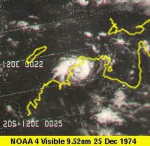 1974–75 Australian region cyclone season - Image: Cyclone Tracy