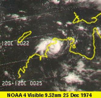 1974–75 Australian region cyclone season - Image: Cyclone Tracy