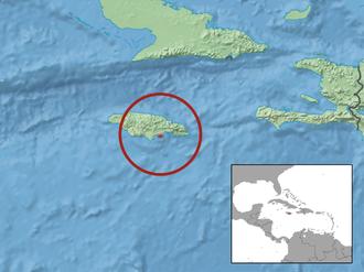 Jamaican iguana - Image: Cyclura collei distribution