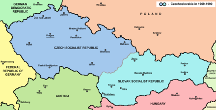 Czechoslovakia after 1969 Czechoslovakia.png