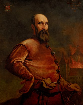 György Dózsa - A posthumous portrait of György Dózsa from 1913