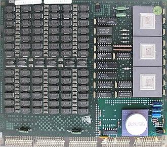 VAXBI Bus - VAX ECC memory card with VAXBI interface highlighted.