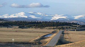 U.S. Route 285 - View of South Park along U.S. Highway 285 looking east toward the Front Range