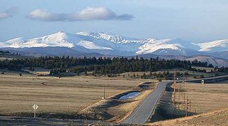 South Park (Park County, Colorado) - View of South Park along U.S. Highway 285 looking eastward toward the Front Range